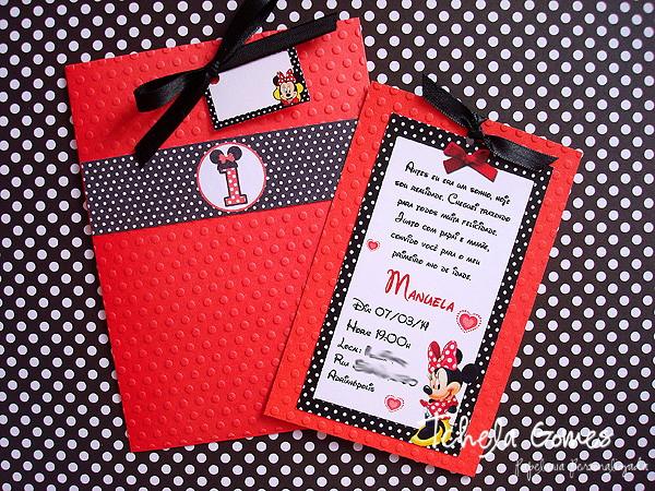 Convite da Minnie Vermelha