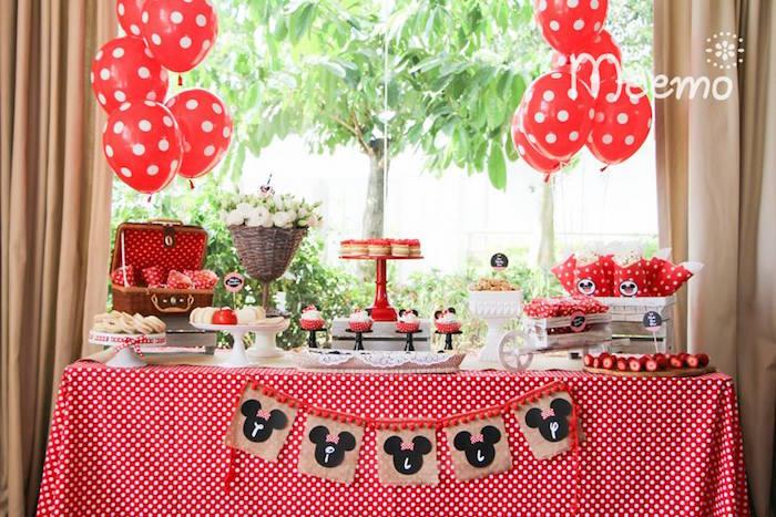 Festa da Minnie Ideias de Decoraç u00e3o Decoraç u00e3o e Festa Dicas, Fotos e muita Inspiraç u00e3o! -> Decoraçao De Festa Da Minnie Vermelha Simples