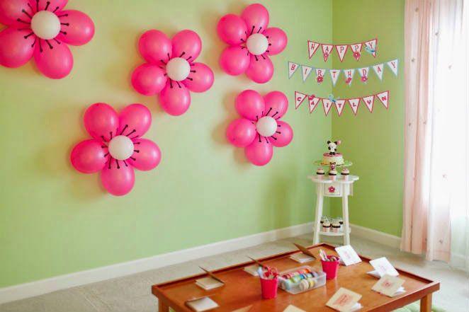 decoração de balões - flores