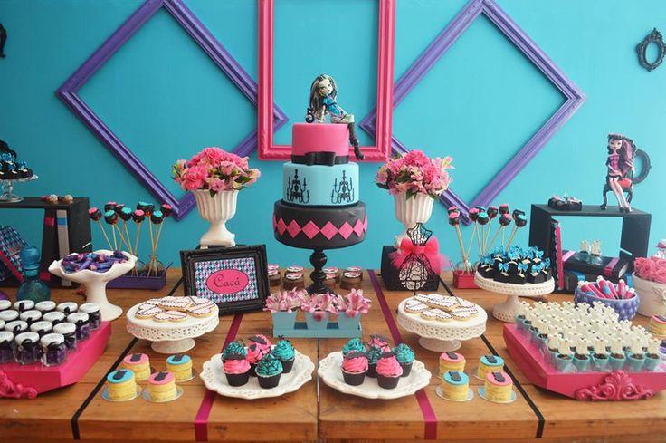 Monster High como decoração de aniversário