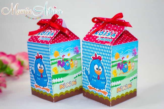 caixa da galinha pintadinha como lembrancinha