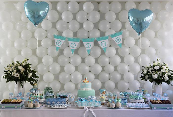 chá de bebe de menino decoração