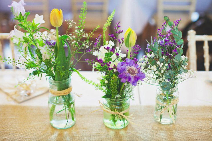 flores para casamento de dia
